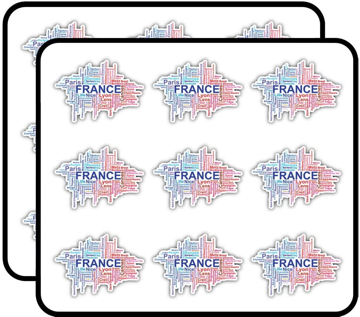 France Word Cloud Art Decor Planner Calendar Scrapbooking Crafting Stickers 2
