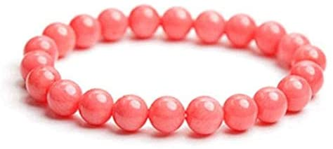 AAA++ Rare Quality 8mm Pink Coral Bracelet, Pink Coral Jewelry, Pink Coral Bead Bracelet, Coral Bracelet, Pink Coral Stretch Bracelet, Bead Bracelet Women Code- WAR1047