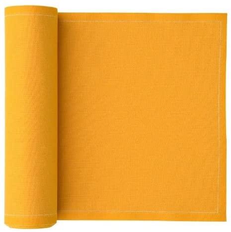 MY DRAP Cotton Cloth Reusable Dinner Napkin - 12.6 x 12.6 In (12 Per Roll, Mustard Yellow)