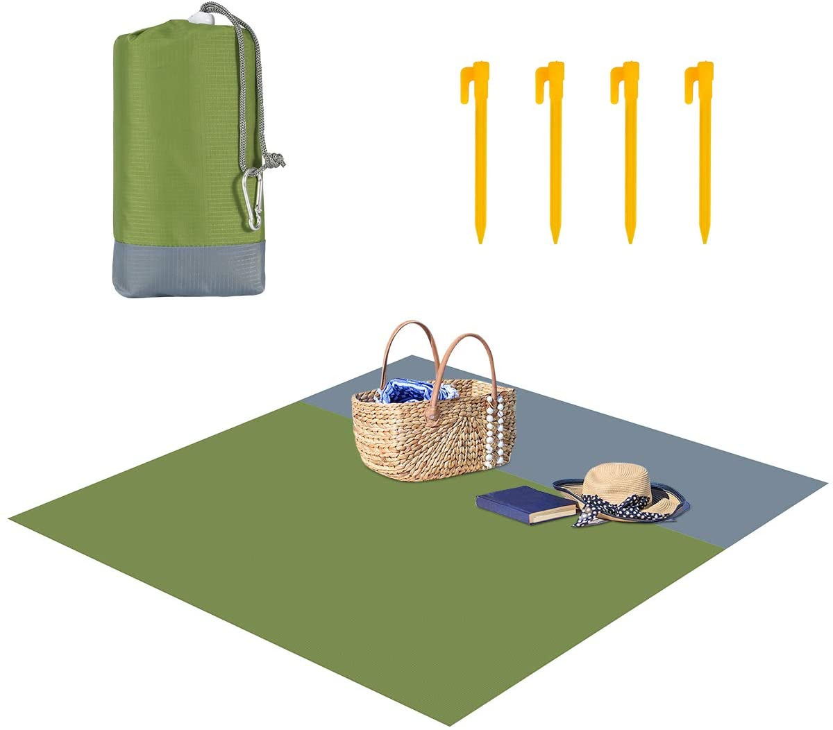 SunshineFace Portable Beach Blanket, Sand-Proof Waterproof Beach Mat Picnic Blanket for Travel Hiking Camping 82.68 x 78.74