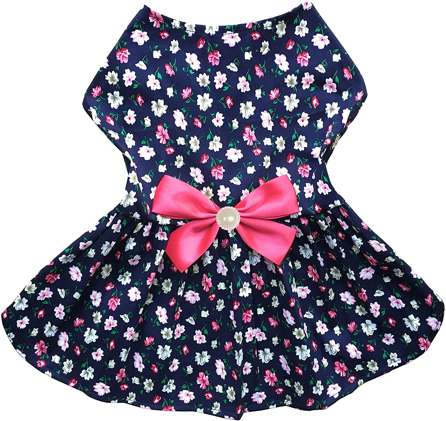 Petroom Puppy Dog Dress,Thin Cute Floral Princess Ribbon Skirt for Small Dogs Cats for Summer