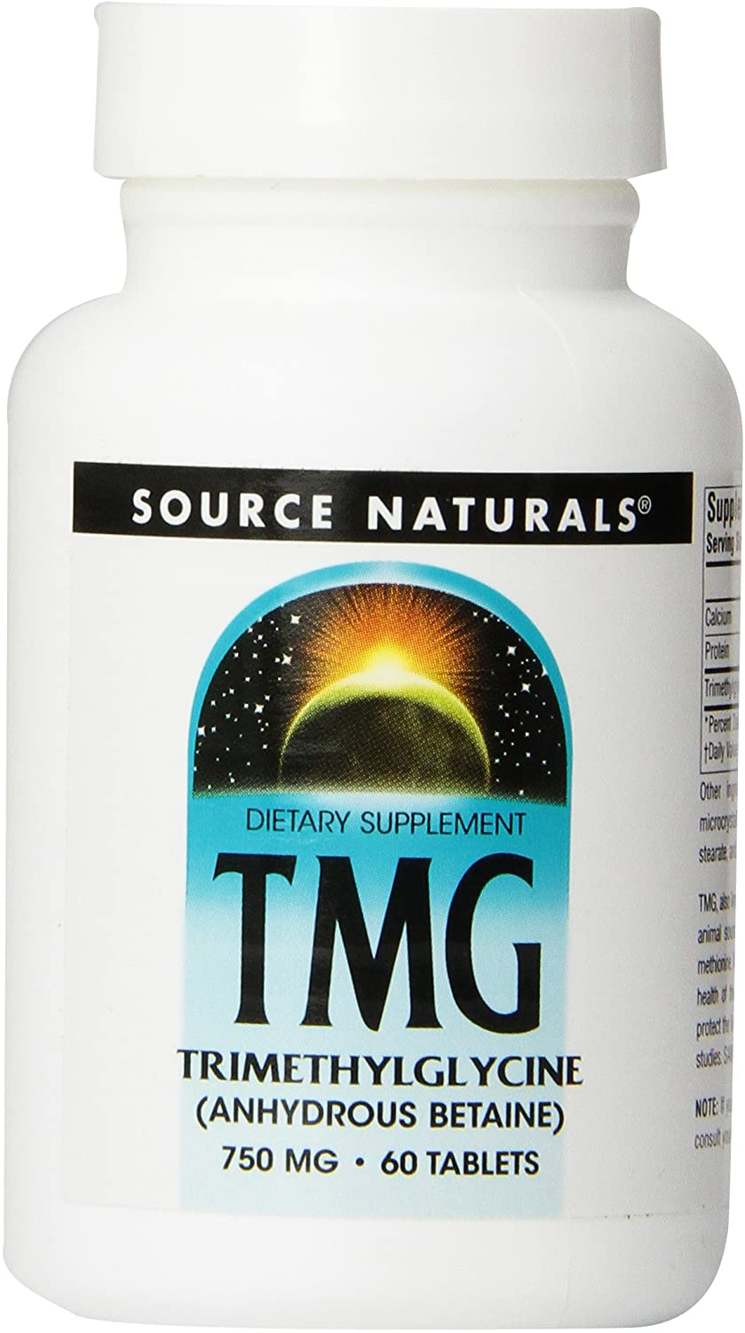 Source Naturals TMG 750mg Trimethylglycine (Anhydrous Betaine) - 60 Tablets