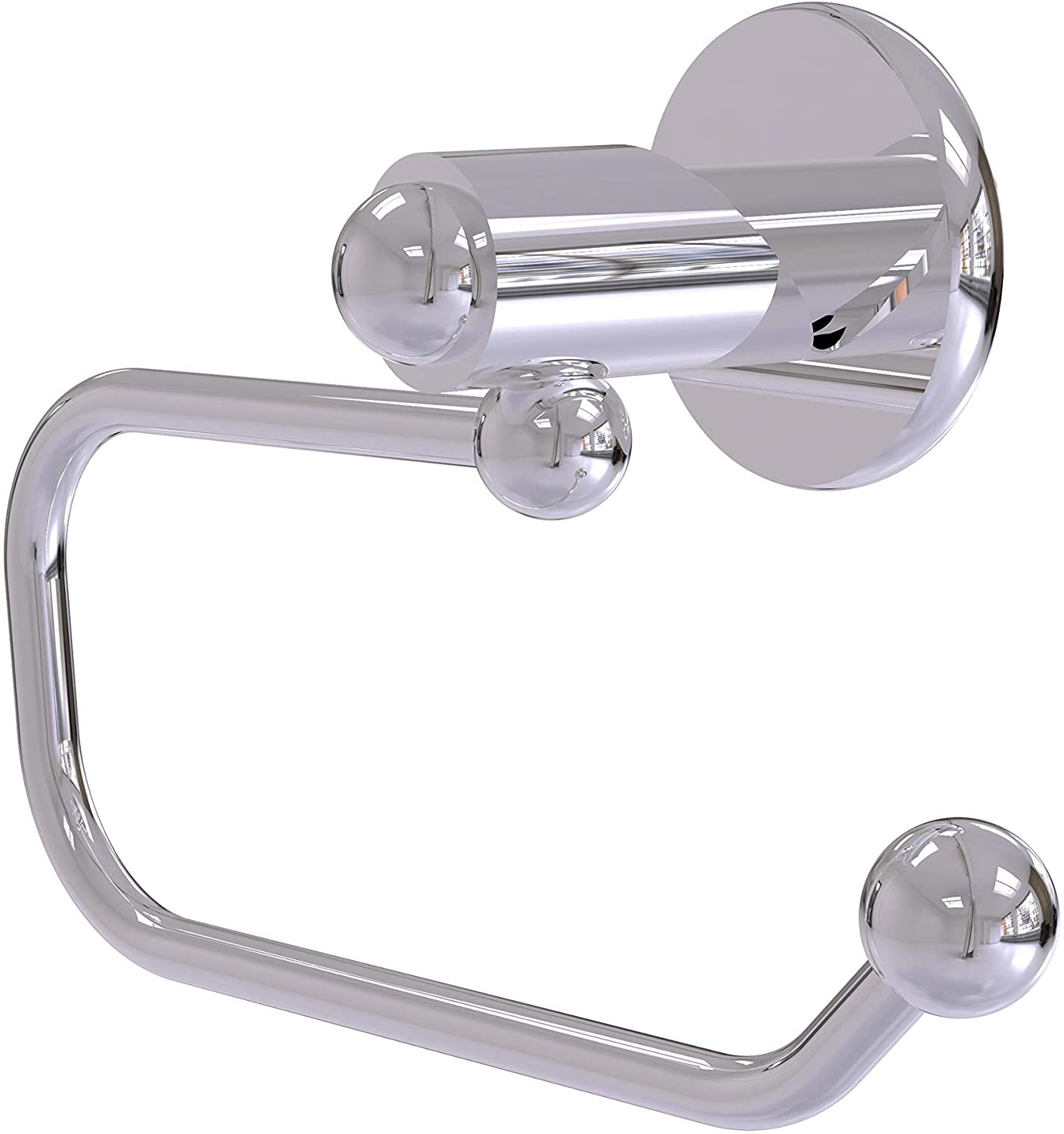 Allied Brass SH-24E-PC Soho Collection European Style Tissue Toilet Paper Holder, Polished Chrome