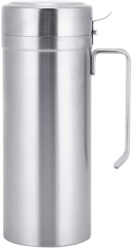 Kitchen Oil Can Oil Storage Bottle Stainless Steel Household Kitchen Handle Oil Bottle Bottle With Lid Storage Container (1000ML)