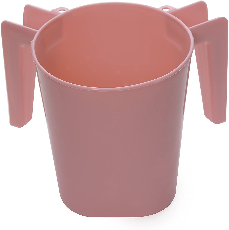 Ybm Home Plastic Square Wash Cup Ba154 (Pink, 1)