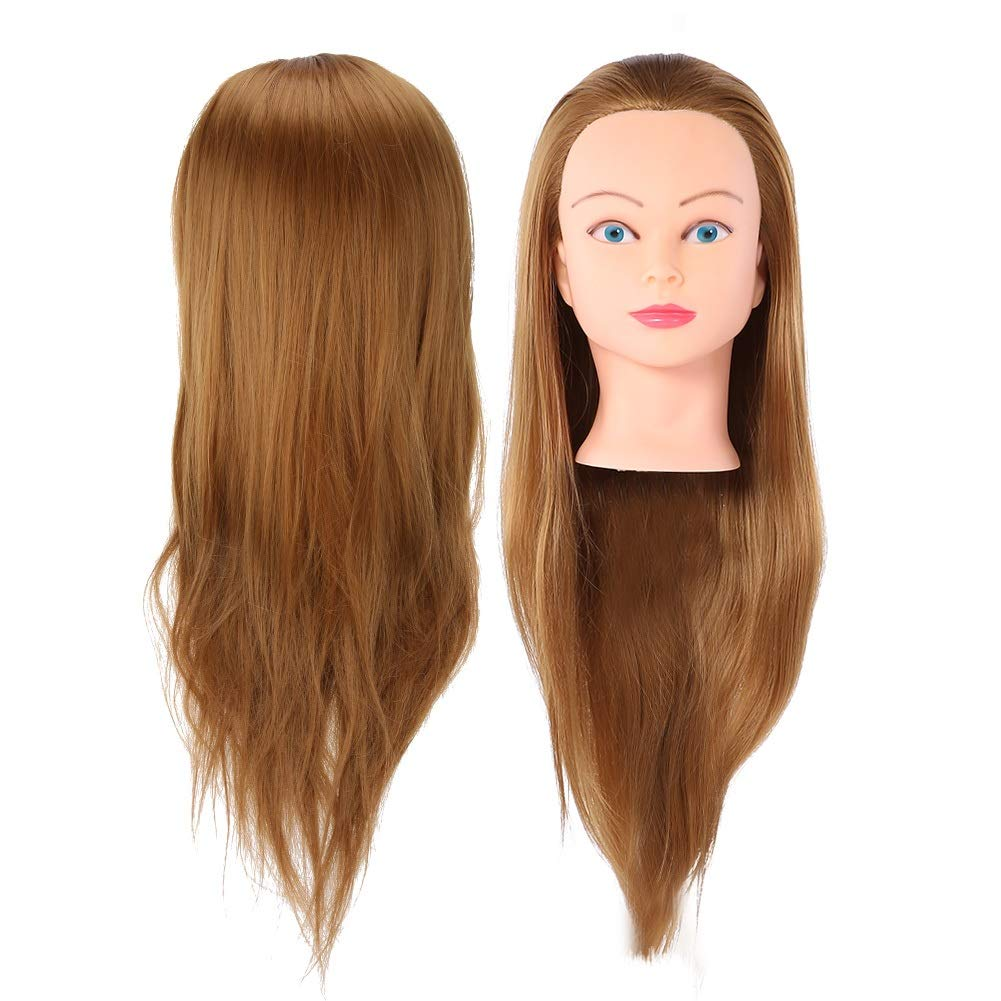 Hairdressing Practice Head - Hair Salon Styling Practice Head Mannequin Hairdressing Training Head Wig Practice Tools