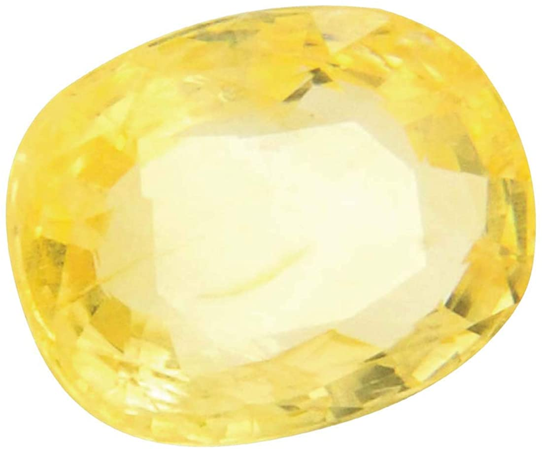 Tejvij And Sons Natural Yellow Sapphire Gemstone