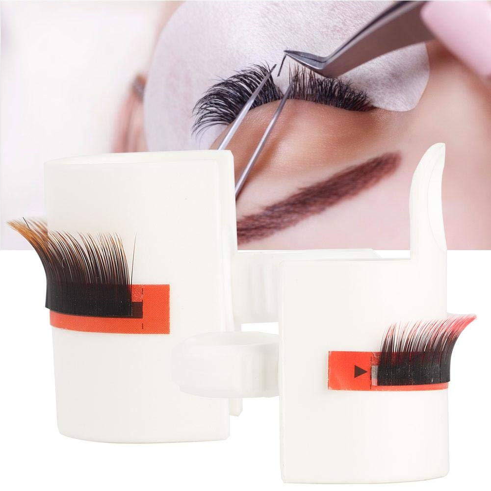 Eyelash Extension Glue Cup, Grafting False Eyelashes Extension Glue Ring Cup U-shaped Pallet Eyelash Extension Glue Holder Adhesive Pigment Holders Ink Cup Rings Kit Makeup Application Tools(01#)