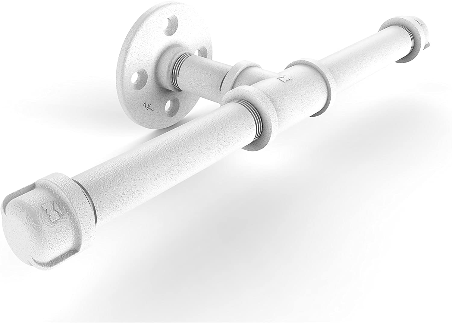 Allied Brass P-160-DTP Pipeline Collection Double Roll Toilet Paper Holder, Matte White