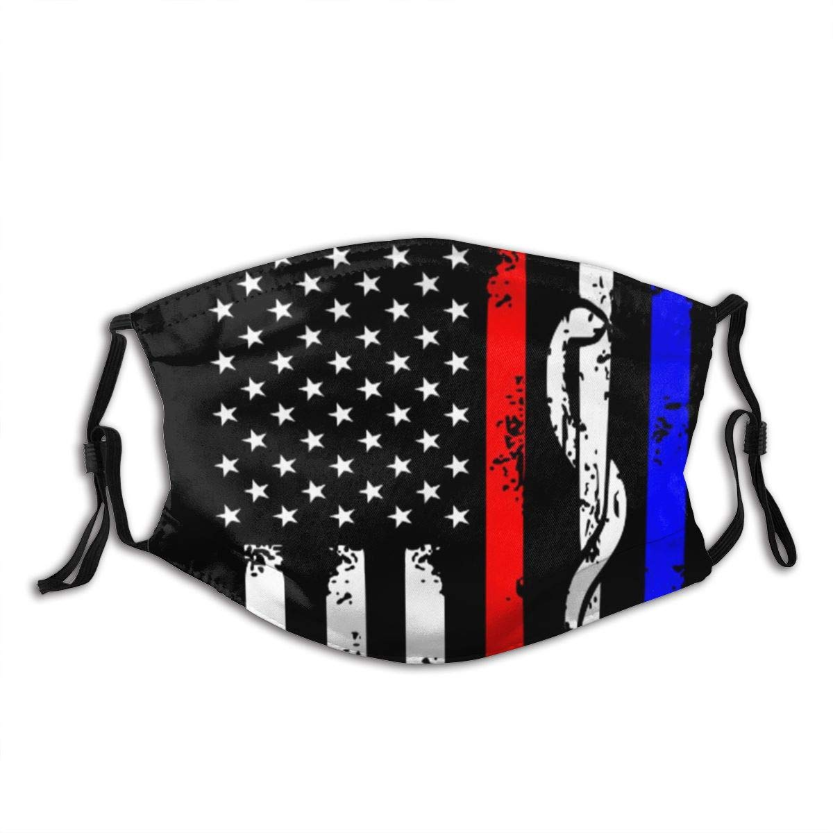 America Flag Reusable & Washable Face Protection with 2 Filter Breathable for Men Women & Teenage outdoor Indoor