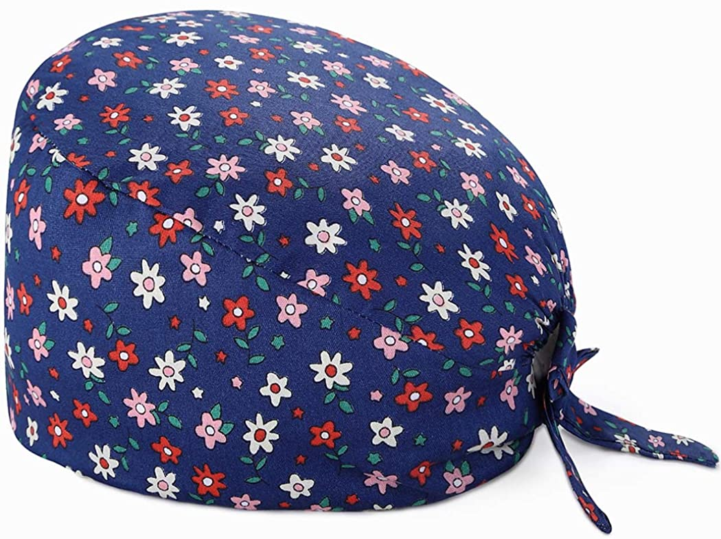 Printed Working Cap with Sweatband Adjustable Tie Back Hats for Women/Men,One Size a Variety of Styles