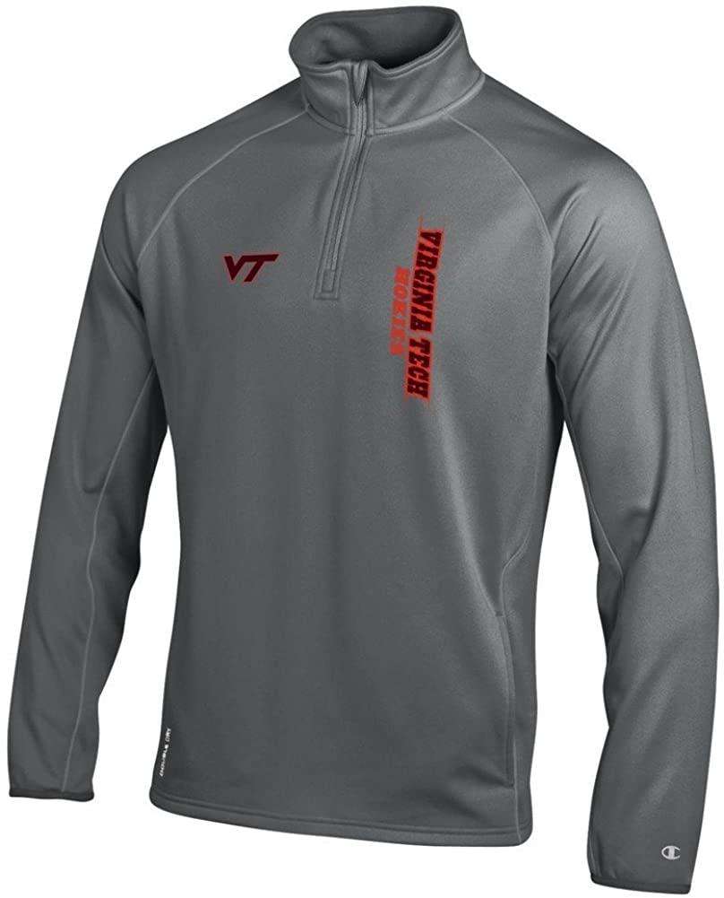Elite Fan Shop NCAA Mens Quarter Zip Sweatshirt Titanium