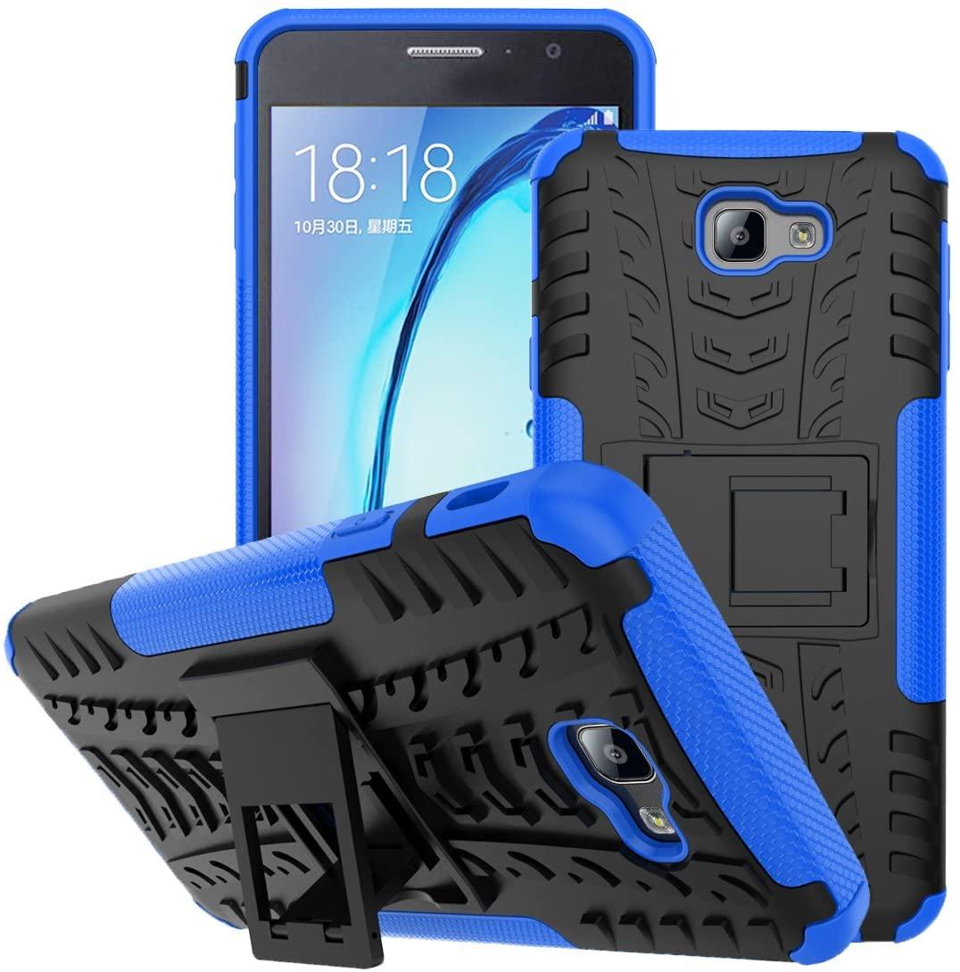 Viodolge for Samsung Galaxy J3 Emerge Case, J3 Prime / J3 Mission / J3 Eclipse / J3 2017 / J3 Luna Pro/Sol 2 Case, Tough Rugged Dual Layer Protective Phone Cover with Kickstand (Blue)