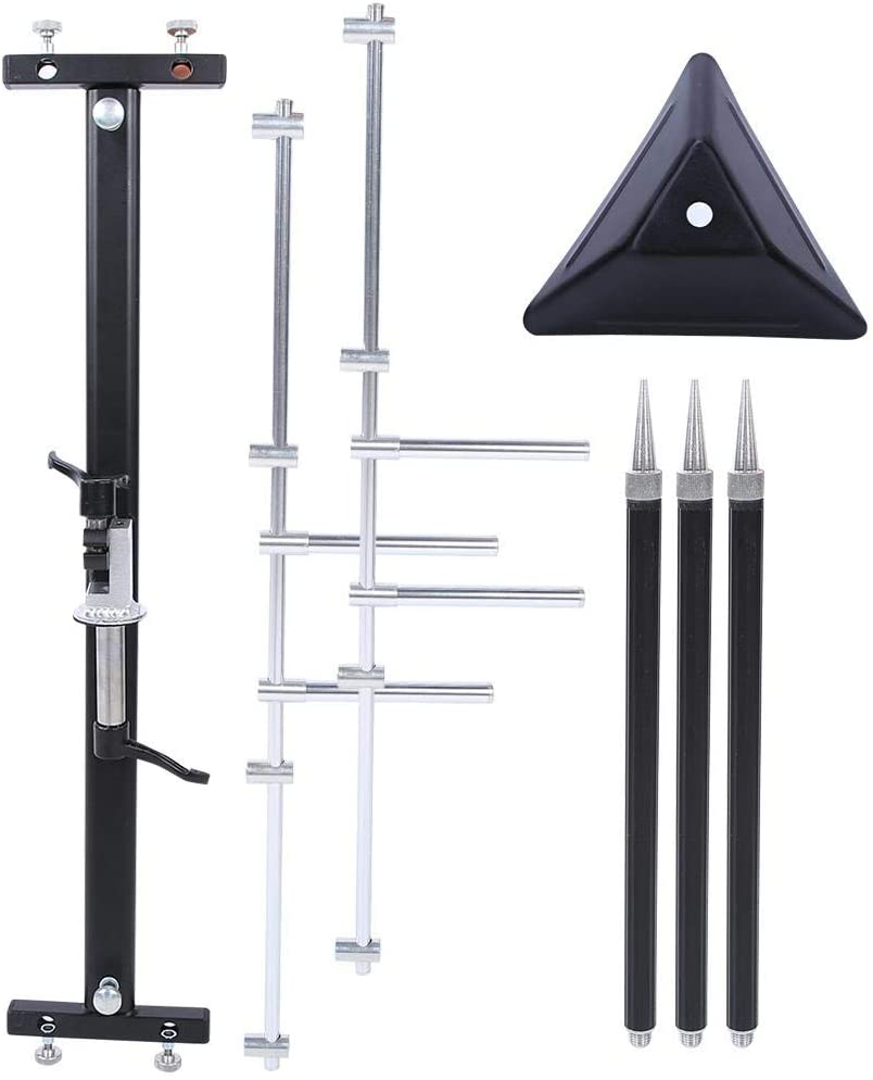 Vbest life Fishing Rod Stand Portable,Retractable Pole Rest Head 4 Head Aluminium Alloy Detachable Fishing Rod Stand Holder Folding Easy Installation and Disassembly