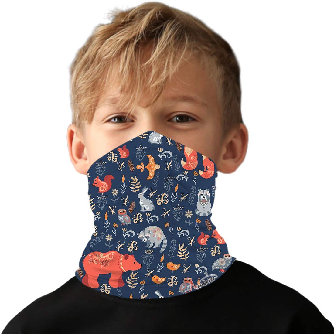 meakeize Kids Full-Coverage Tube Face Mask Bandanas UV Protection Neck Gaiter Headband, UPF 50+ Fabric