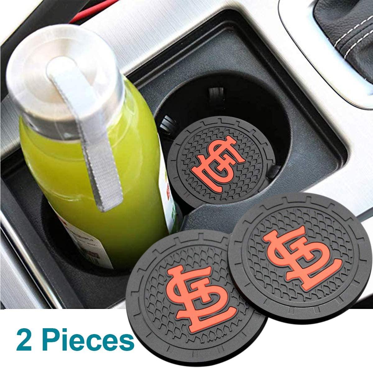 Wall Stickz AutoParts 2PCS 2.75 Inch Slip Cup Coaster Cup Holder Mat Durable Car Interior Accessories (St. L Cardin)