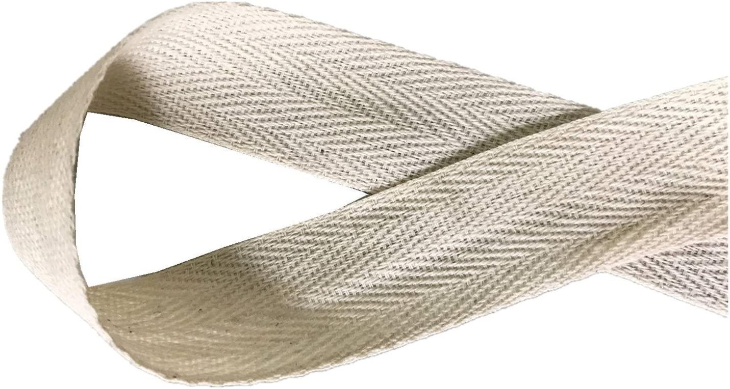 QIANF Twill Tape Ribbon 100% Cotton Natural Color 2