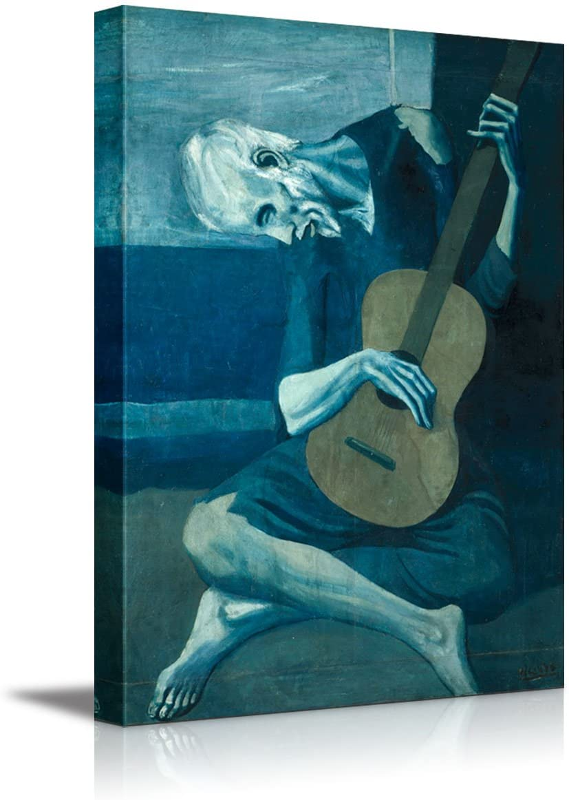 wall26 - The Old Guitarist by Pablo Picasso - Canvas Art Wall Art - 16