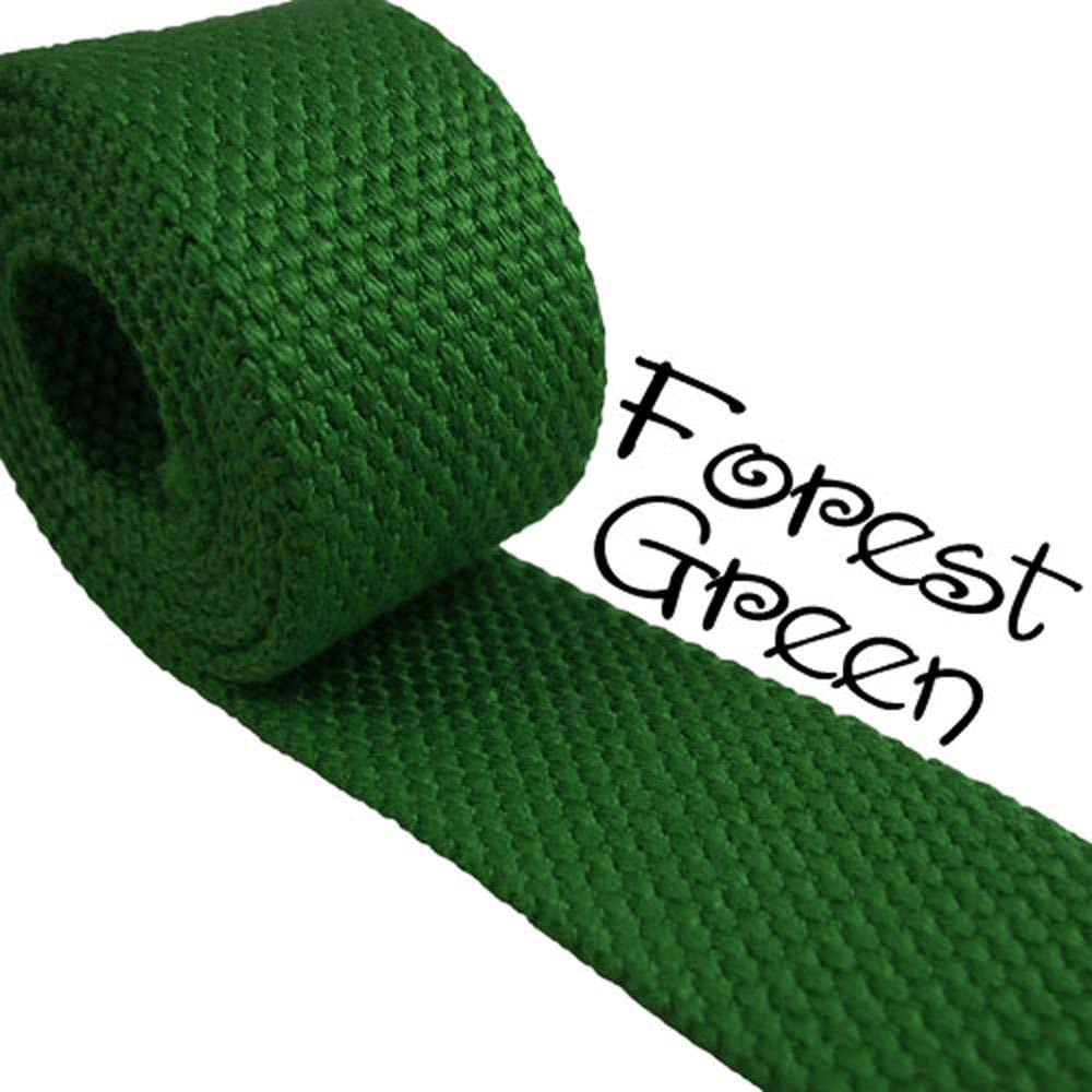 Forest Green - Heavy Canvas Webbing Roll 1.25