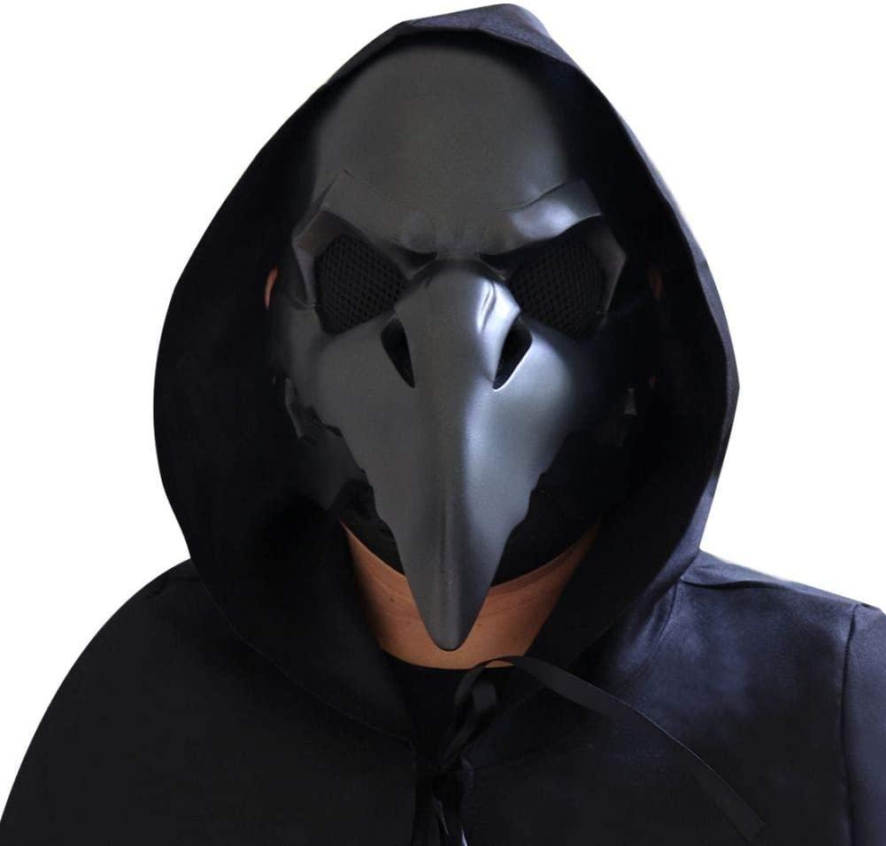 Forart Plague Doctor Bird Mask Long Nose Beak Cosplay Steampunk Halloween Costume Props Masquerade Party Costume Mask
