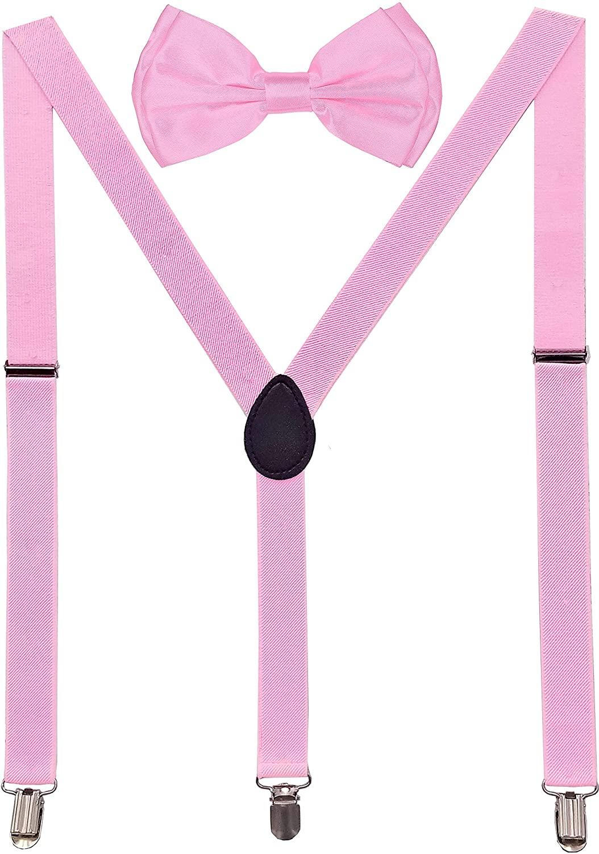 Navisima Suspenders for Kids - Adjustable Suspenders for Girls, Toddler, Baby - Elastic Y-Back Design with Strong Metal Clips
