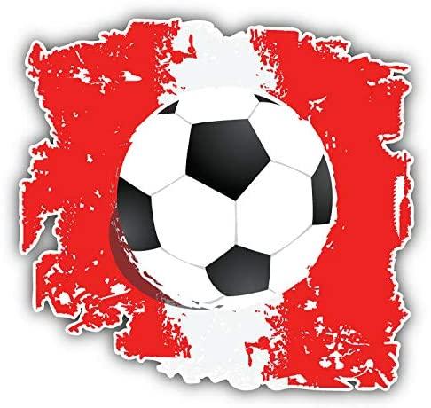 KW Vinyl Grunge Peru Flag Soccer Ball Truck Car Window Bumper Sticker Decal 5
