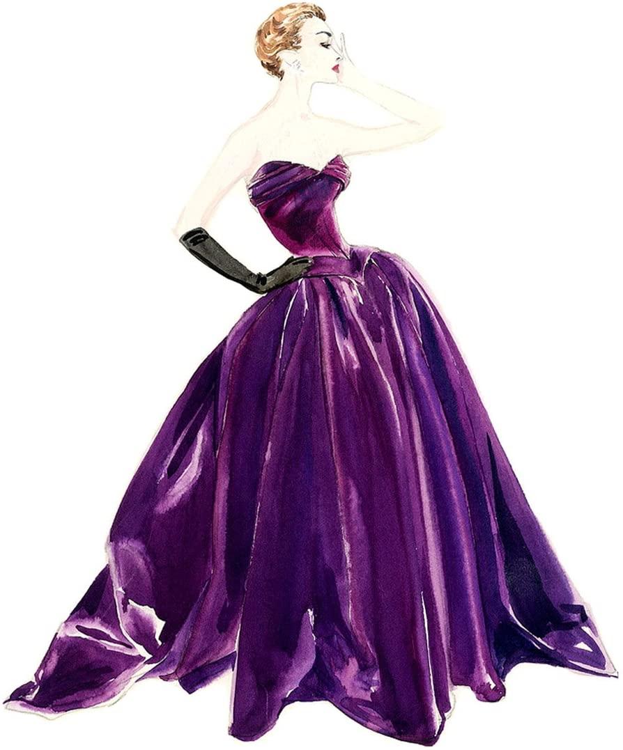 Waterslide Decals 4pcs (2.5x3.5) Vintage Fashion Coctail Lady FLONZ