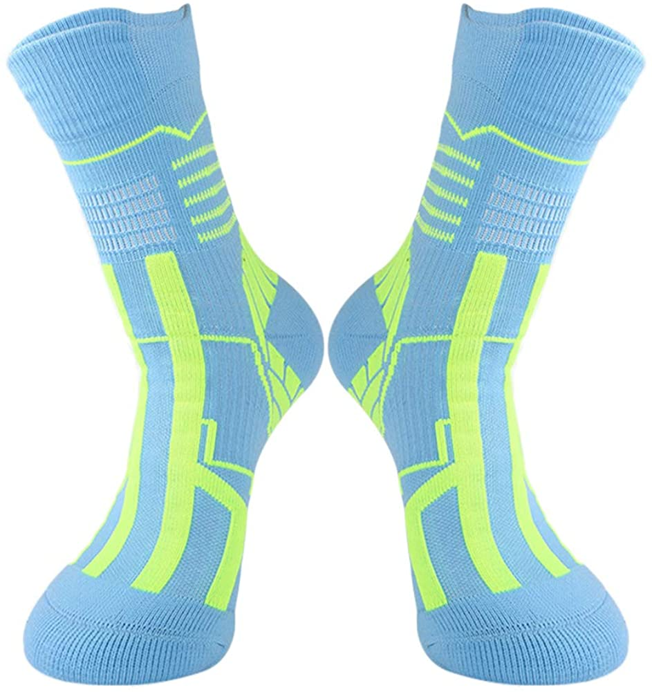 Basketball Socks Thick and Compression, Short and Low Designs, Team Crew Cool Colorful Sport Socks, For Men & Women &Youth.