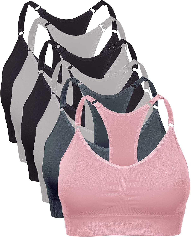 Barbra Lingerie Wireless Racerback Yoga Sports Bra Seamless Bralette Medium - Plus Size