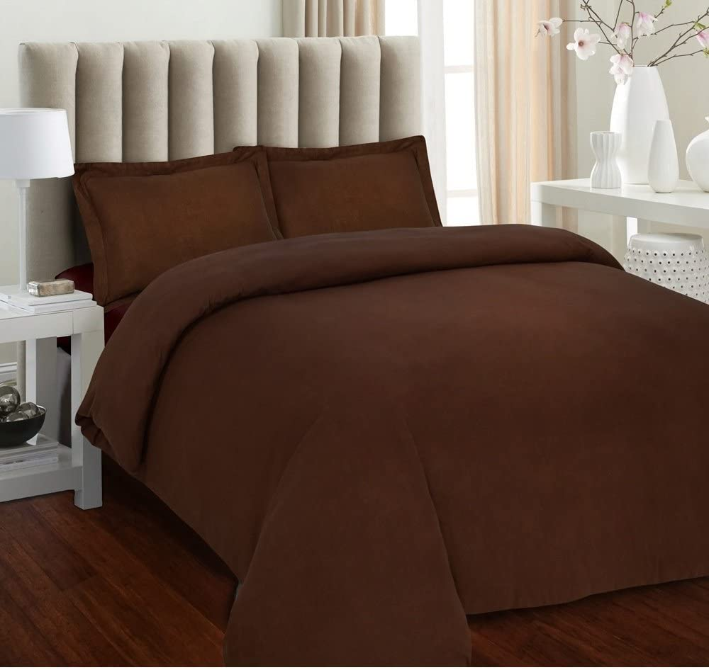 Tula Linen 700 Thread Count 100% Egyptian Cotton 1pc Duvet Cover Luxury Soft, All Sizes & Colors, Twin/Twin XL-Chocolate