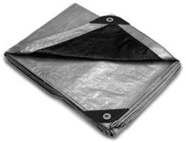 Sara Glove Silver/Black Multi-Purpose Flexible Rain & Waterproof Heavy Duty Polyethylene Tarp - 20'x30'