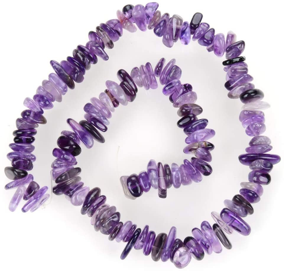 3 Strands Natural Purple Amethyst Gemstone Free Form 8-10mm Loose Stone Beads (~ 45 Inch Total) for Jewelry Craft Making GZ3-2