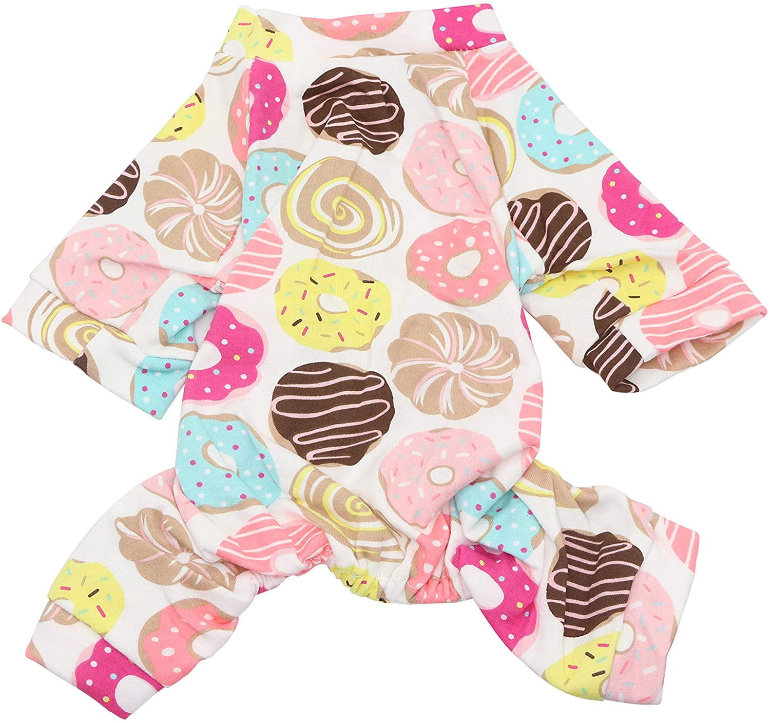 YAODHAOD Dog Pajamas, All Seasons Pure Cotton Dog Jumpsuit, Soft Comfortable Pure Cotton Puppy Rompers with Cute Patterns Pet Pjs Onesie for Small Medium Cat Dogs
