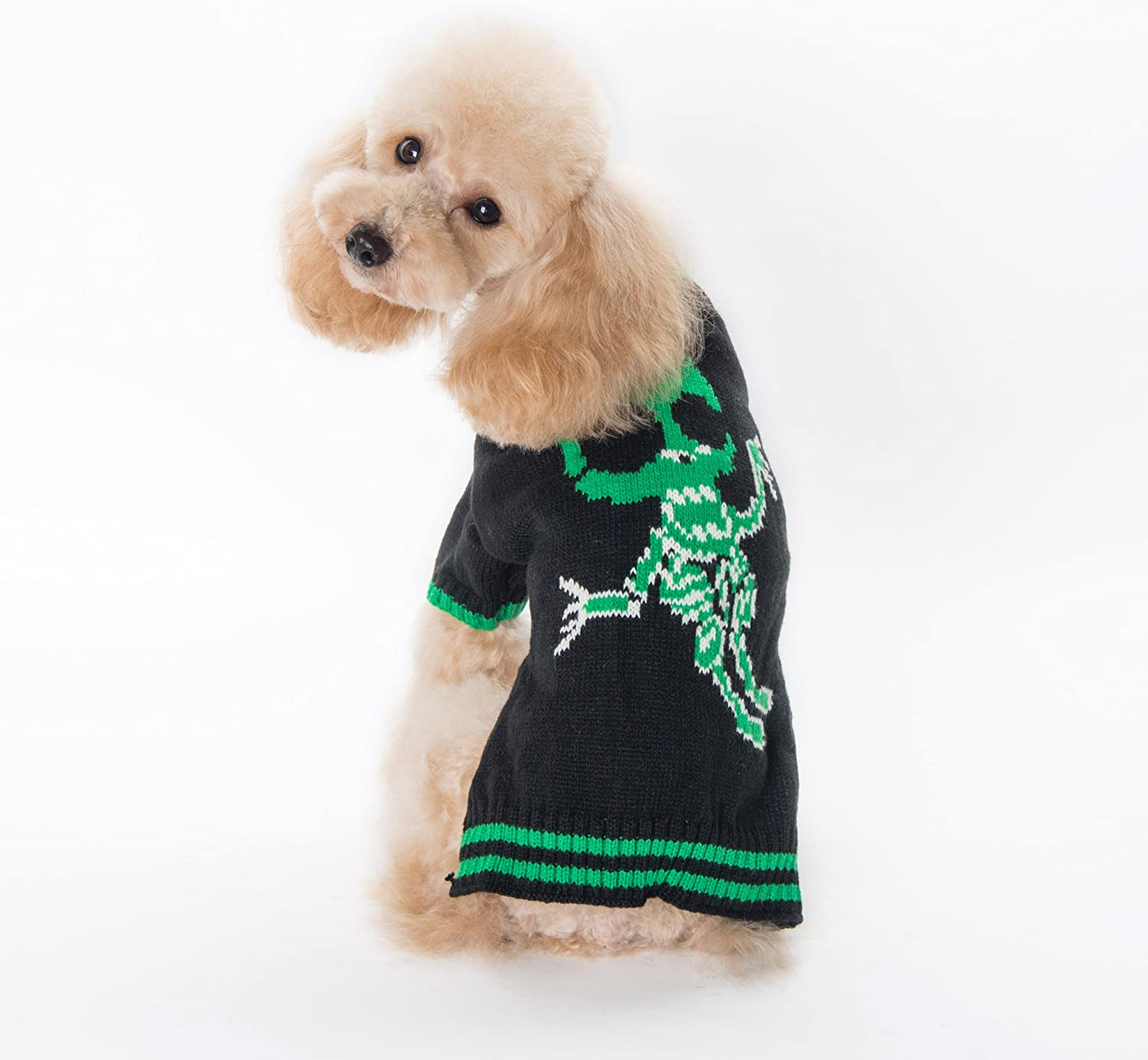 PETCARE Fashion Pet Dog Sweaters Cool Skull Puppy Clothes Warm Festival Knitwear Sweaters for Small Medium Dogs Cats