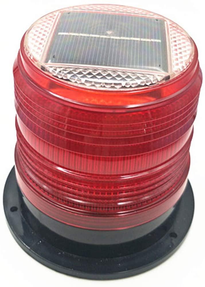 RISOON Solar Strobe Warning Light with Strong Magnetic Base Waterproof Flash Warning Light Ceiling Strobe Light Traffic and Road Beacon Light, Indicator Light, Ceiling Alarm Light (Red)