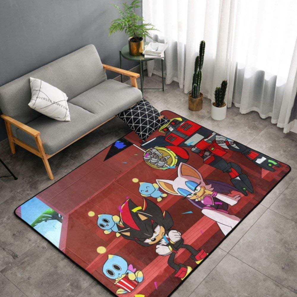 NiYoung Sonic. The Hedgehog American Anime Kitchen Rug, Bedroom Living Room Kitchen Rug, Doormat Floor Mat Nursery Rugs, Kids Children Play Mat Bath Mat, Throw Rugs Runner Exercise Mat