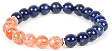 AAA++ Rare Quality Sodalite Bracelet, Sunstone Bracelet, Natural Gemstone Bracelet, Gemstone Bracelet, Handmade Jewelry, Gemstone Jewelry 8mm Code- WAR1217