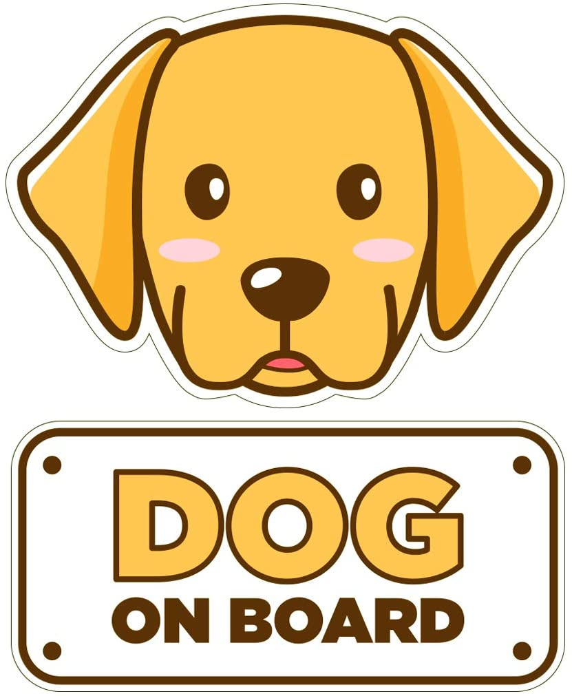 BSL Dog on Board Car Sticker - Dog on Board Sticker and Decal - Dog Bumper Car Sticker - Pet Window Car Sticker - Dog in Car Sticker - Cute Safety Caution Decal Sign for Cars