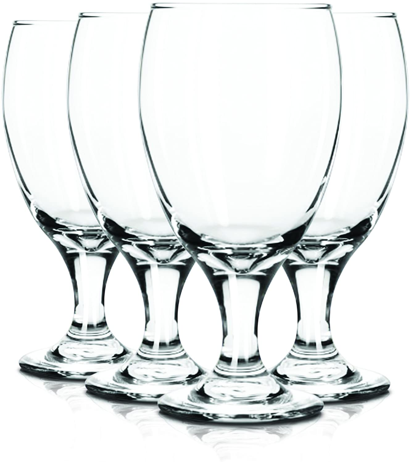 Libbey 6 Piece Goblet Party Glass, 16.25-Ounce Full Color Clear Additional Vibrant Colors Available by TableTop King