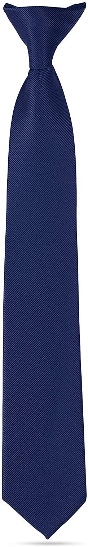 Handmade Clip On Ties For Boys Woven Boys Navy Blue Ties: For Kids Wedding Graduation