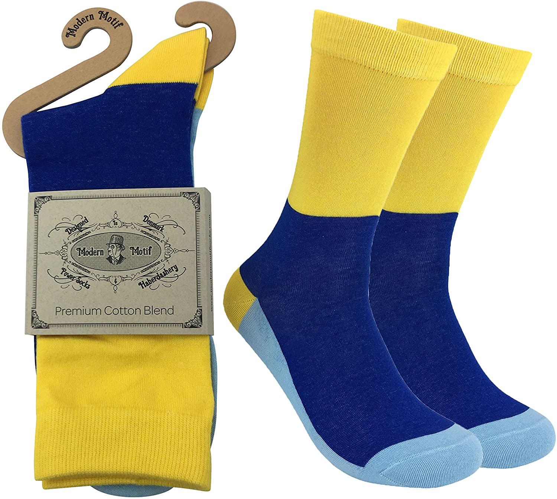Men's Dress Socks - Hundreds Of Designs - Multi-Color, Patterns, Striped, Dots