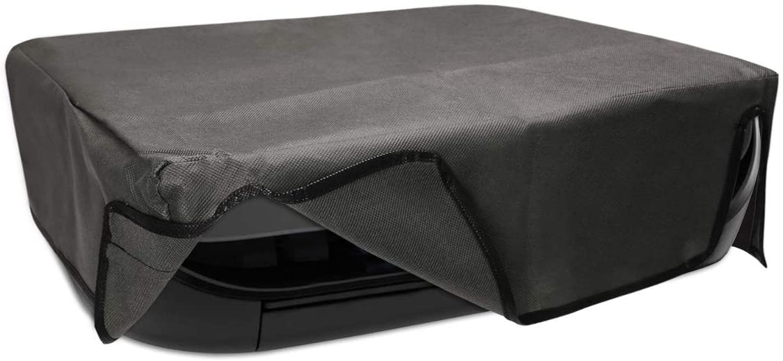 kwmobile Dust Cover Compatible with HP Envy 4525 - Printer Dust Protector - Dark Grey