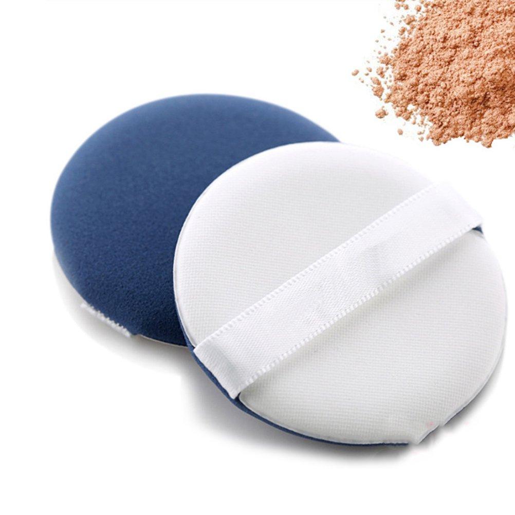 Frcolor Makeup Facial Powder Puff Cosmetics Blush Applicators Round Foundation Face Puff (Blue)