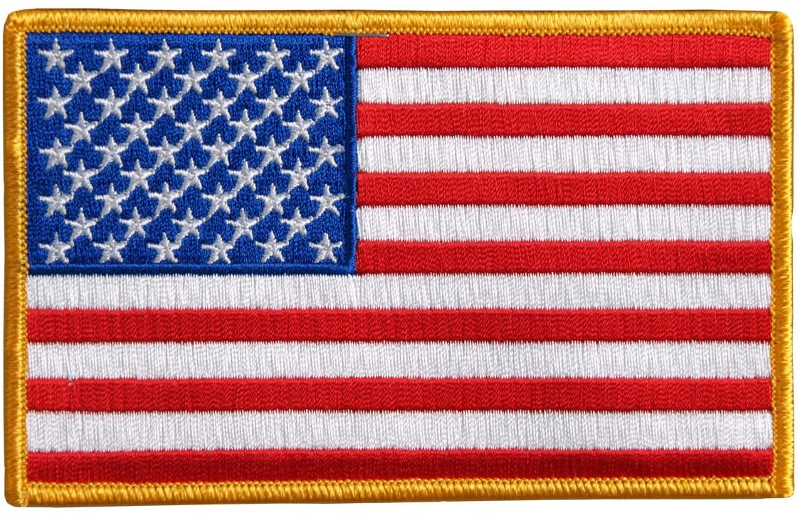 AMERICAN FLAG - Iron-On / Saw-On Rayon PATCH - 5