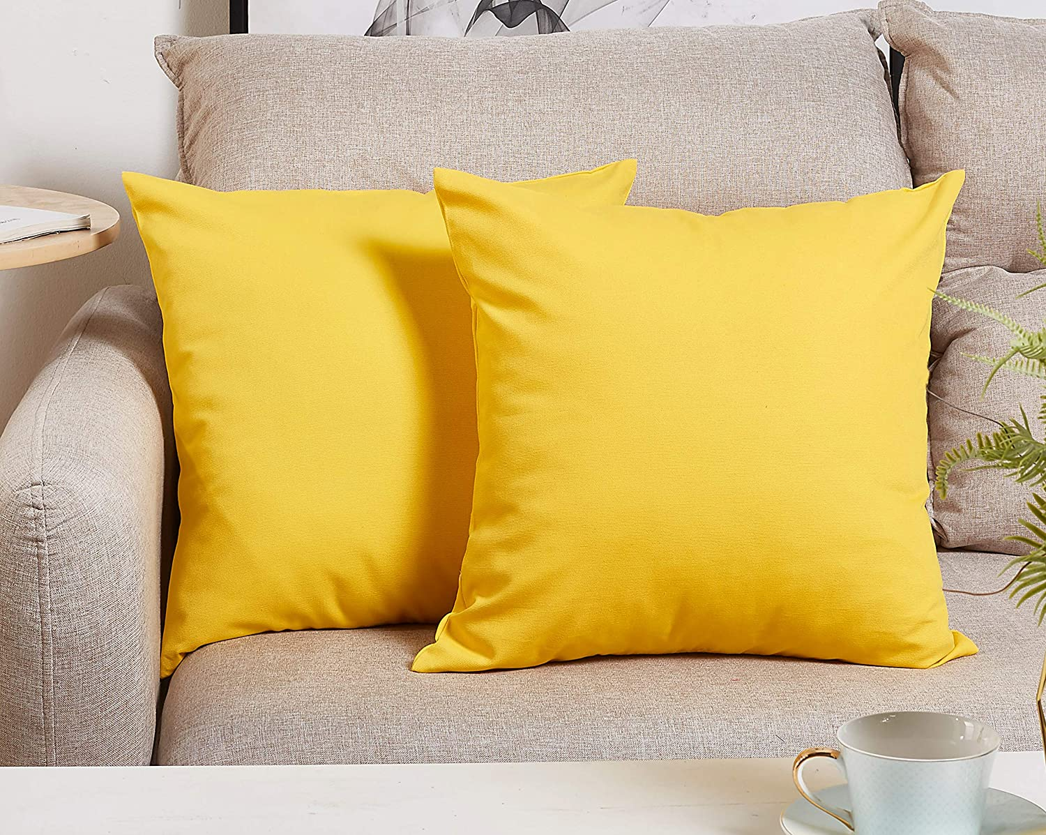 TangDepot Cotton Solid Throw Pillow Covers, 14