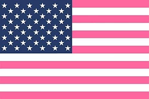 MR3Graphics Magnet Preppy Pink American Flag Magnetic Car Sticker Decal Bumper Magnet Vinyl 5