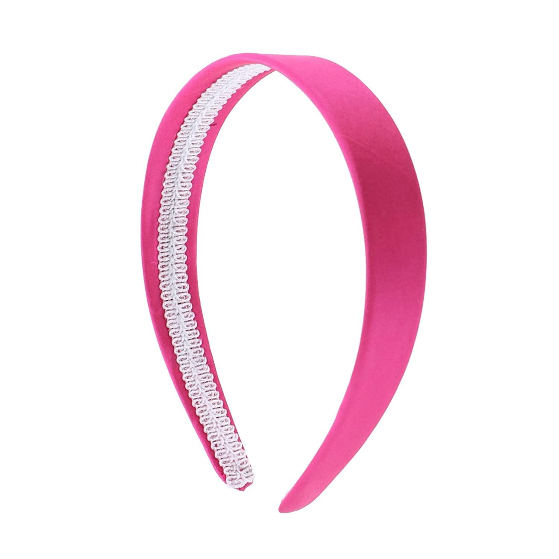 Hot Pink 1 Inch Satin Hard Headband