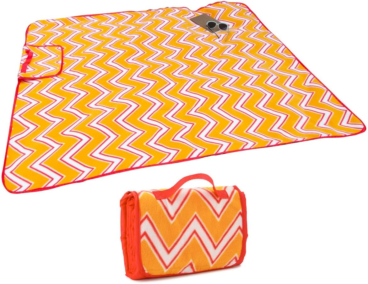 Sun and Sky 50 x 60 Inch Picnic Blankets: Washable, Water Resistant, Picnic Mat, Outdoor Blanket, Camping Accessory