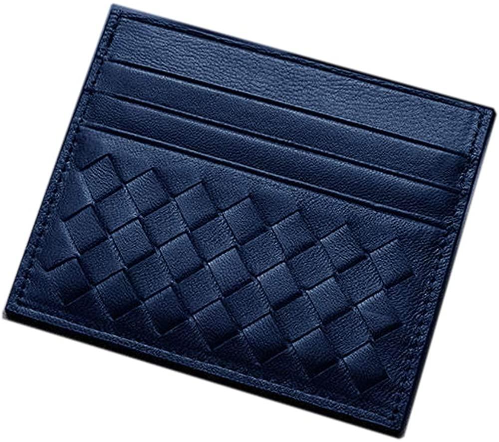 MAGICMK Slim Minimalist Front Pocket Genuine Leather Card Wallet Credit Card Holder for Men & Women