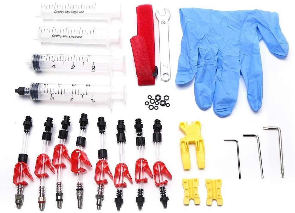 Eastbuy Brake Bleed Kit - Bicycle Hydraulic Disc Brake Mineral Oil Bleed Kit Tools Bicycle Repair Accessory